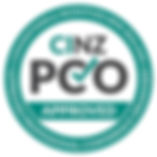 CINZ Approved PCO Logo 2018 with wording