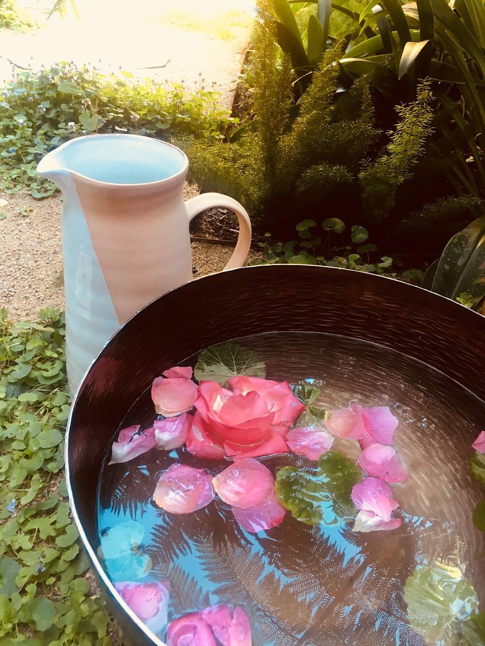 rose footbath