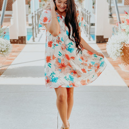Floral Ivory Dress