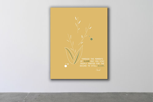 'Desire to Bloom' Canvas