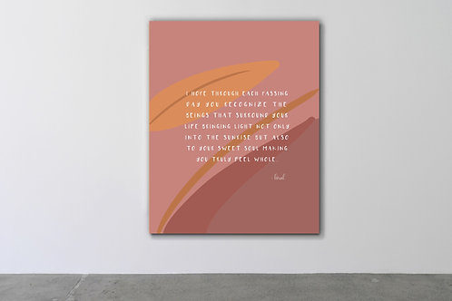 'Wholesome' Canvas