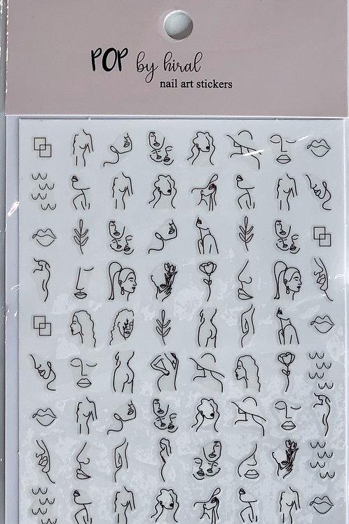 BODY Nail Art Stickers
