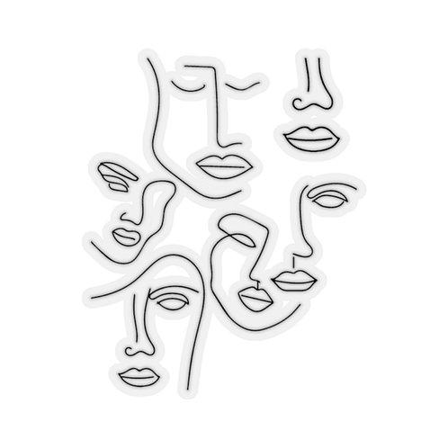 FACES B/W Sticker