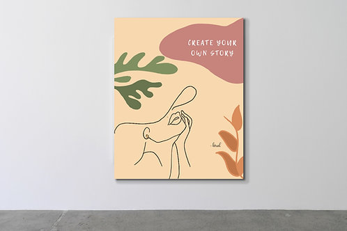 'Create your own story' Canvas