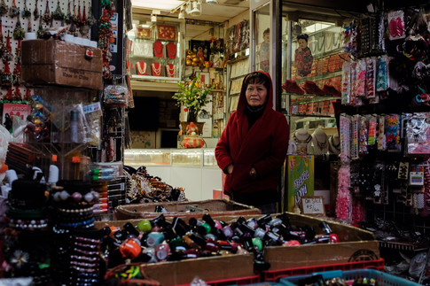 Vendor at Dynasty Shopping Center, Chinatown 2019