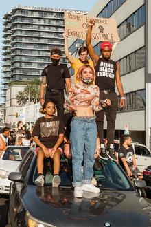 Black Lives Matter Protest, Hollywood 2020