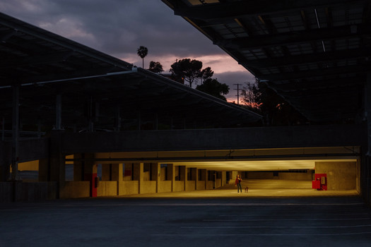 Empty Parking Deck during COVID, CalState LA 2020