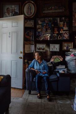Teresa Alfaro before eviction, Boyle Heights 2019