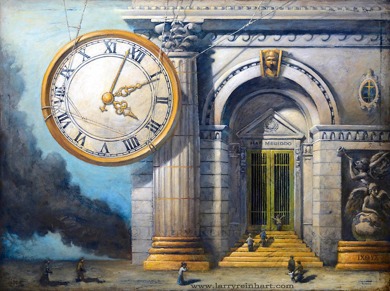Larry Reinhart's oil painting, The Time is coming.