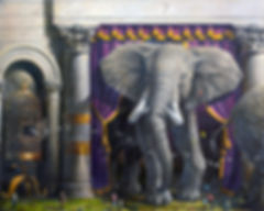 Larry Reinhart's oil painting, Majestic Beast.