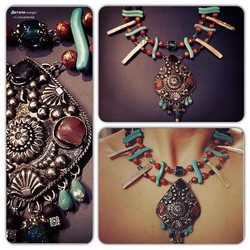 Ожерелье с кулоном _Коллекция _бохо-этно_