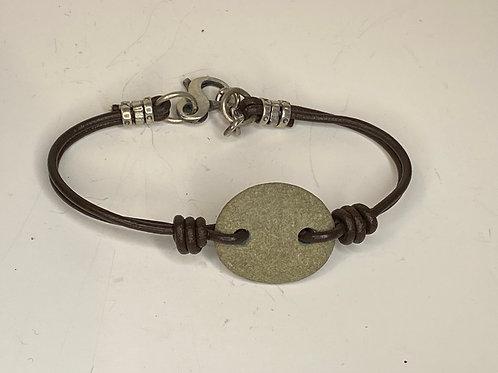 Beach Stone Leather Bracelet LB 05