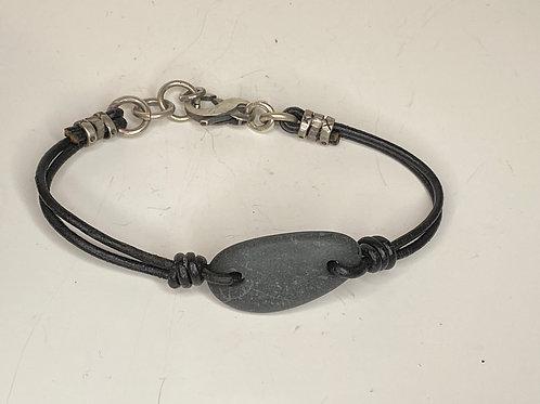 Beach Stone Leather Bracelet LB 06