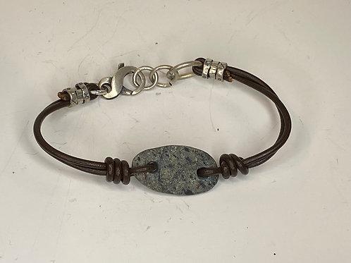 Beach Stone Leather Bracelet LB 07