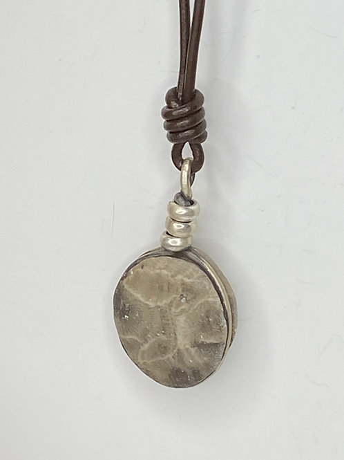 Silver Wrap Stone Pendant SW 02