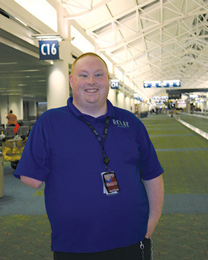 Relay Resources provides janitorial services for Portland International Airport (PDX), where Michael Best is a job coach to janitorial employees ensuring high quality performance.
