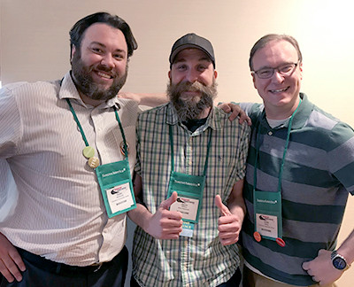 Dylan McDonnell (Columbus Community Center), Jason Wilkey (Relay Resources) and Curtis Haring (Columbus Community Center) at the SourceAmerica conference
