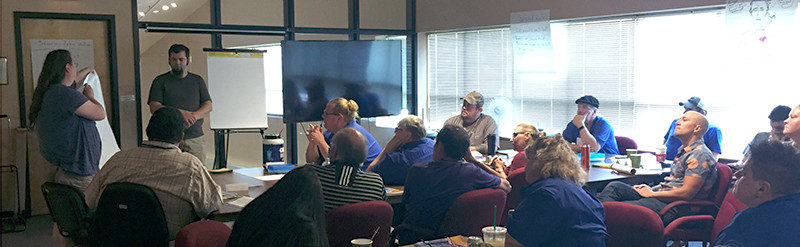 Relay Resources employees attend a Mental Health First Aid training.