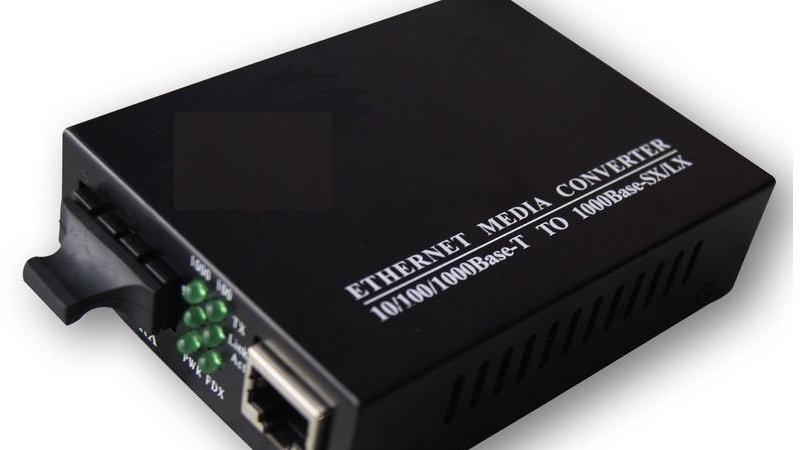 Fiber Optic Media Converter SM 1GIGA SC (OP-ECS13211-20)