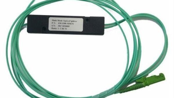 Fiber Optic Coupler/Splitter 1x2 850/1300nm 10:90 E2000/APC 1.2M Multi Mode(OM3)