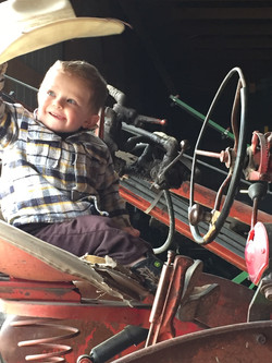 Ransom driving tractor