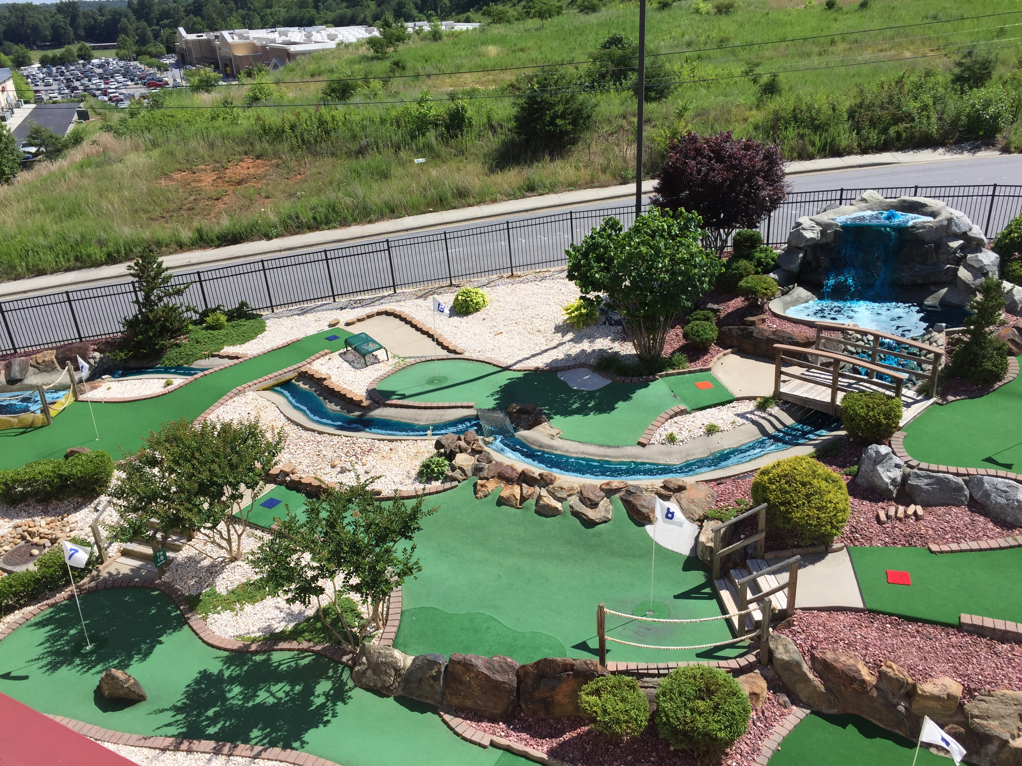 Aerial of Mini Golf