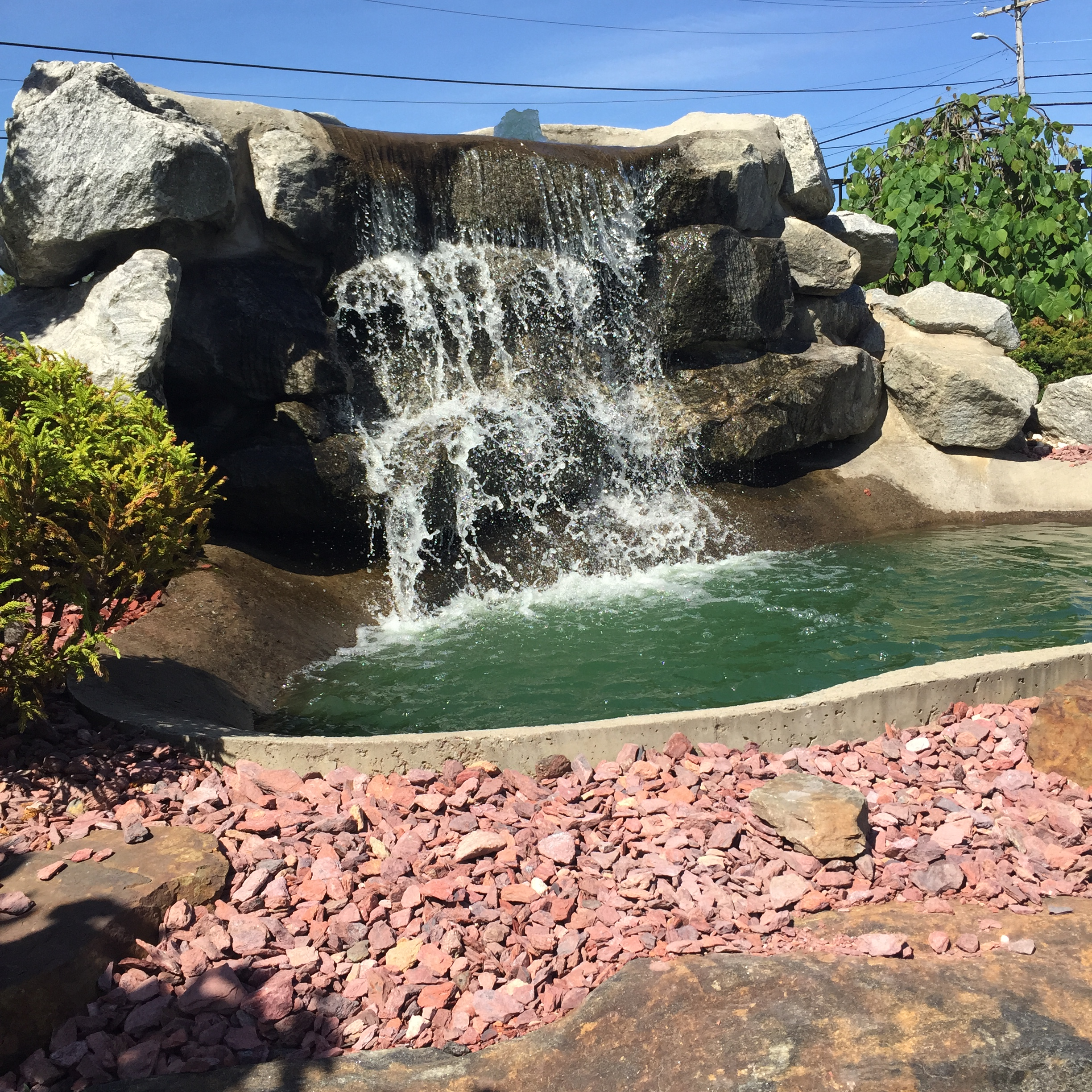 Mini Golf Waterfall