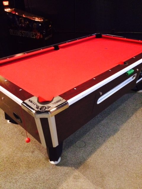 New Felt on the Pool Tables