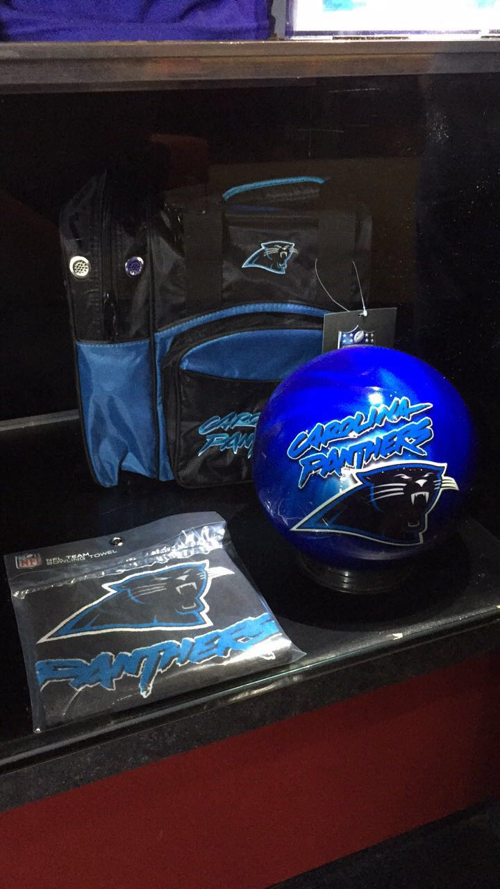 New Carolina Panthers Bowling Ball