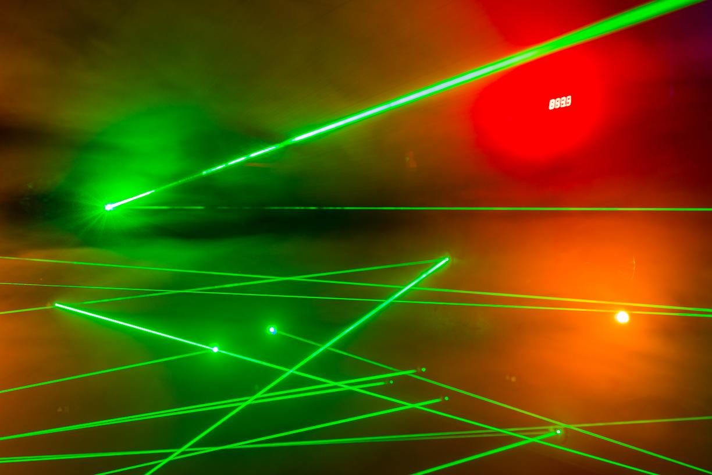 Inside of Laser Maze
