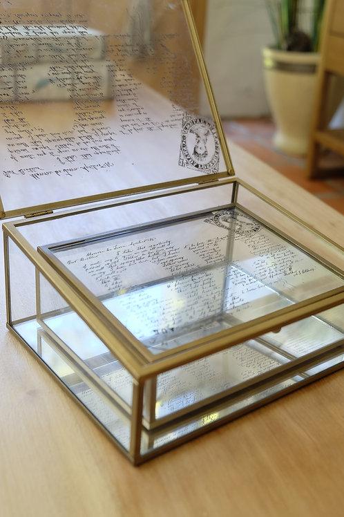 Cajita alhajero de vidrio y espejo