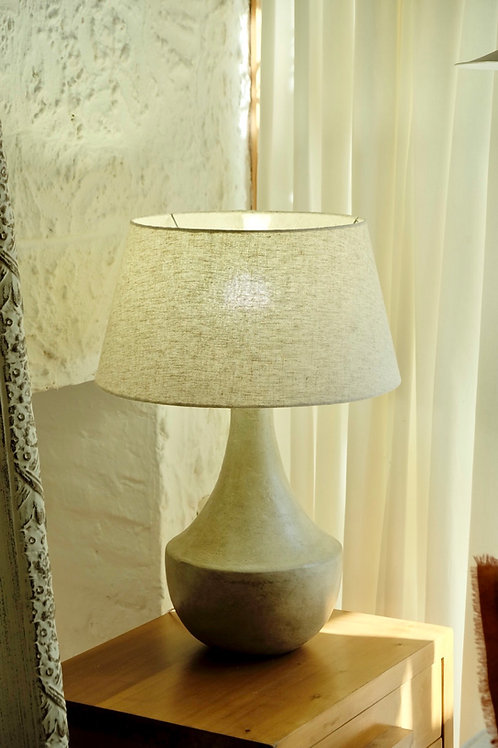 Lámpara cerámica gris