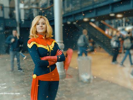Captain Marvel Cosplay. Comic Con Paris 2019