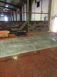 blockwork panels warehouse dividing wall
