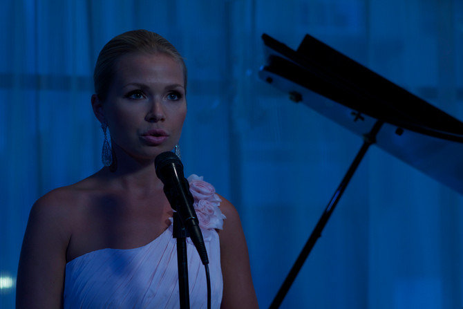 Singing for the president of Kazakhstan
