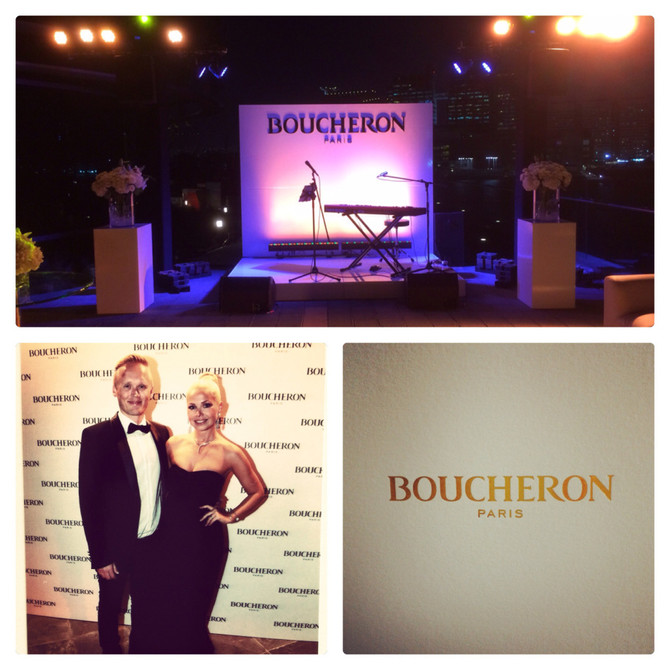Beautiful event for Boucheron at the Rosewood Hotel in Abu Dhabi