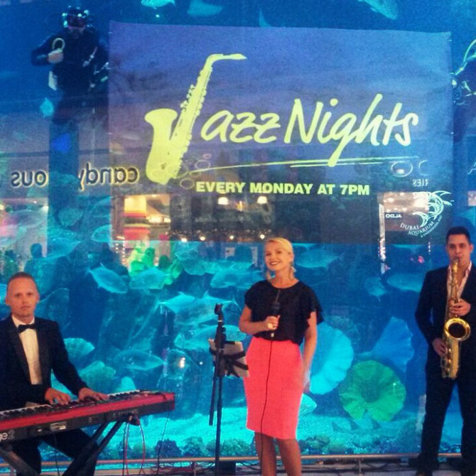 Playing jazz with the fishes