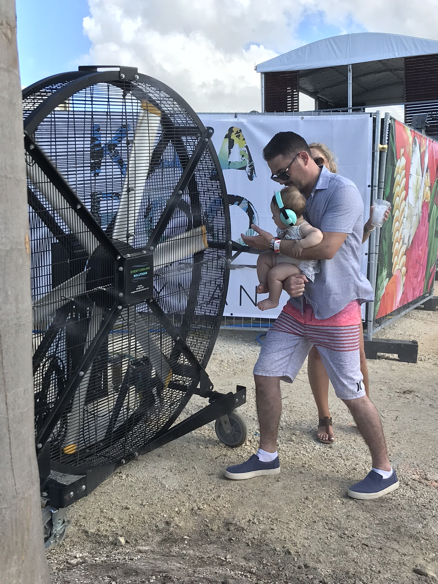 Even Babies Love the Big Black Misting Fan