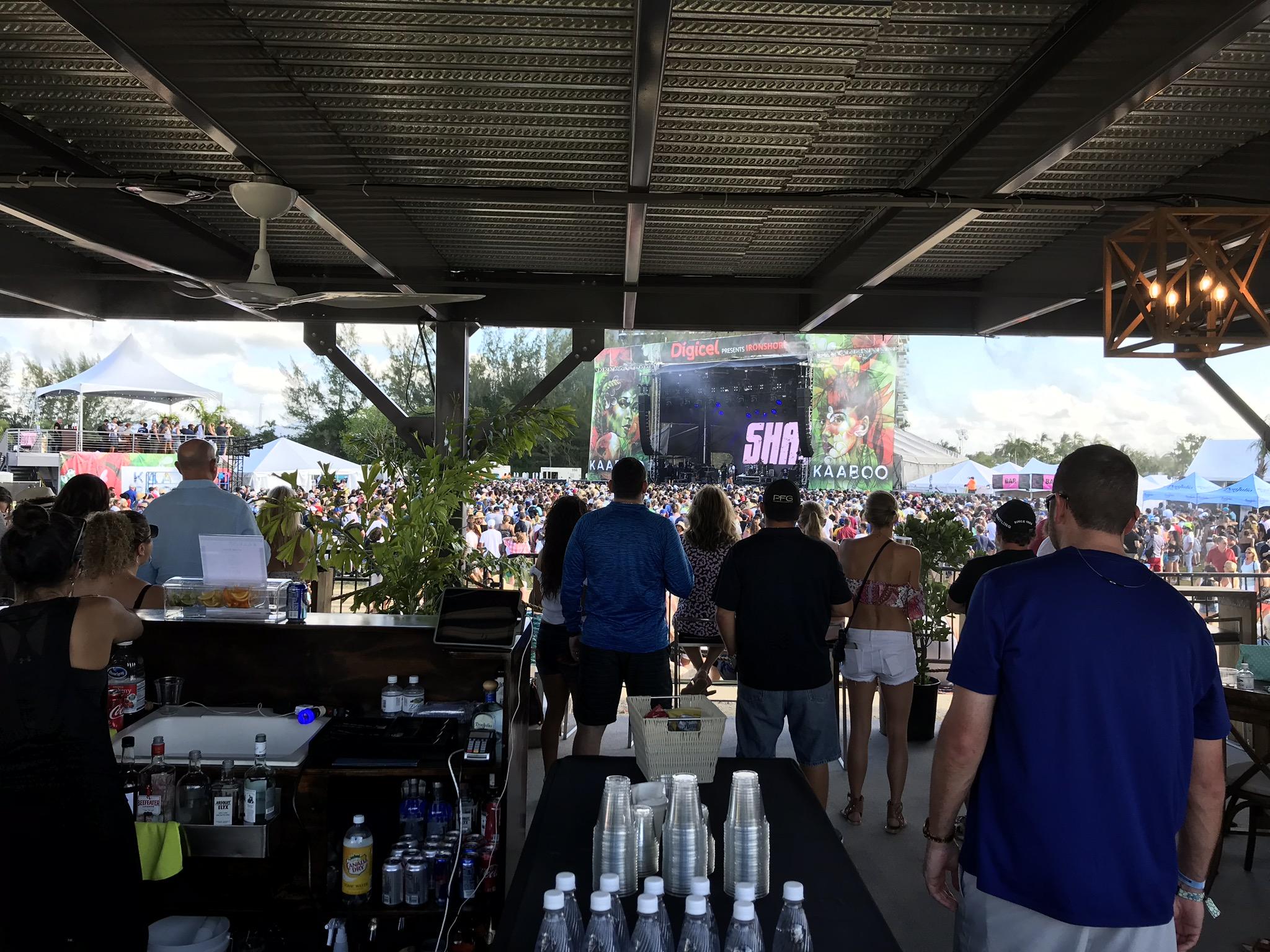 5' Overhead Fan in the VIP Bar