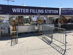 3' Pedestal Misting Fans at the Water Filling Station
