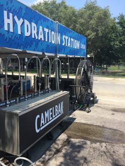 Big Black Misting Fan in the Hydration Station