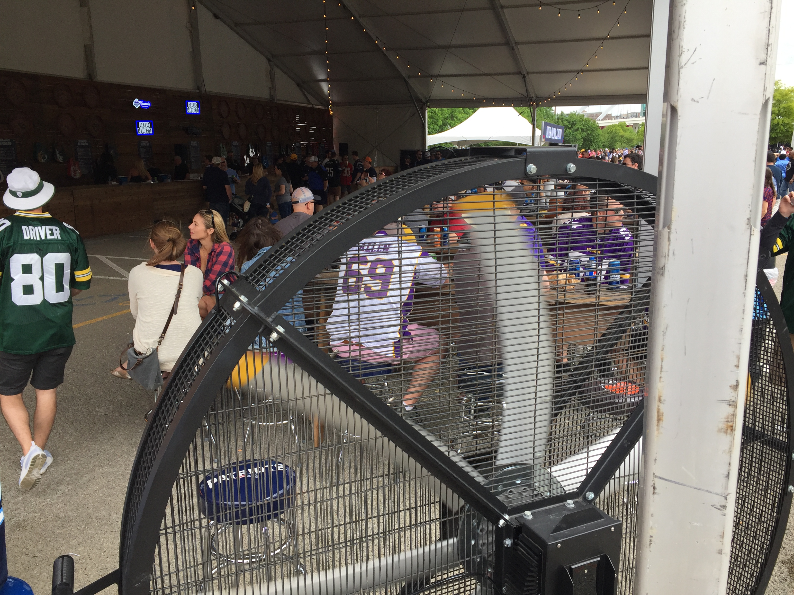 Big Black Fan in the Beer Garden