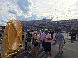 Big Yellow Misting Fan at the NASCAR Race