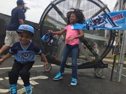 Kids Love the Big Black Misting Fan