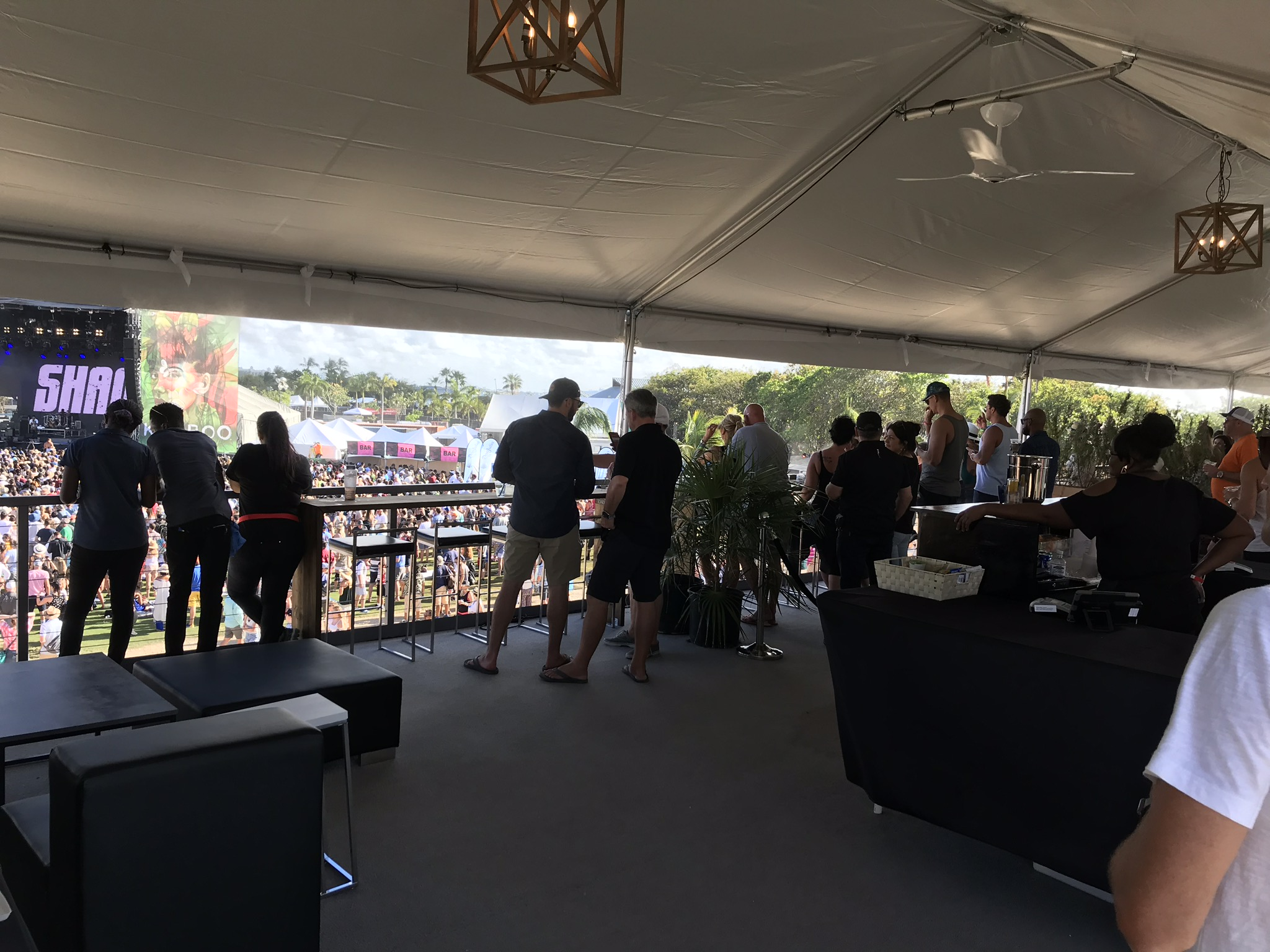 5' Overhead Fan in the VIP Tent