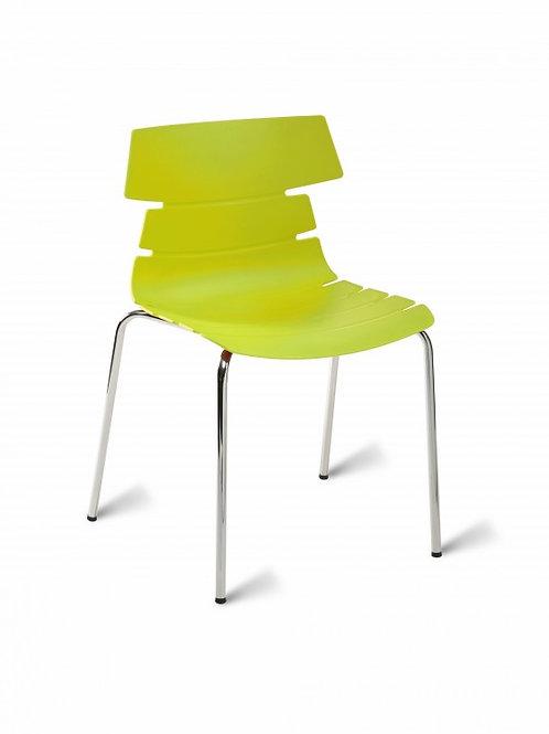 Hoxton Chair/Chrome Base - Lime Green
