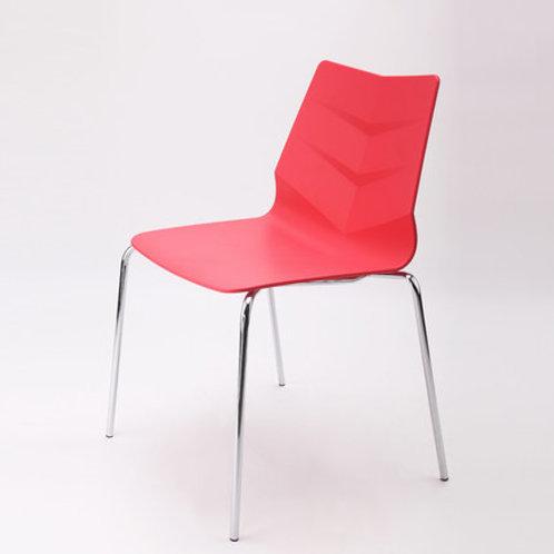 Camden Chair/Chrome Base - Red