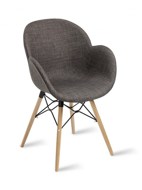 Shoreditch Arm Chair/Timber Base -Upholstered
