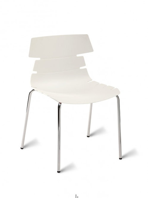 Hoxton Chair/Chrome Base - White