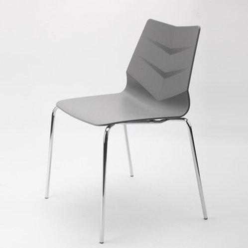 Camden Chair/Chrome Base - Grey